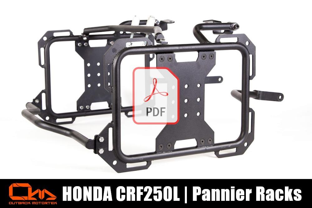 Honda CRF2500L Pannier Racks