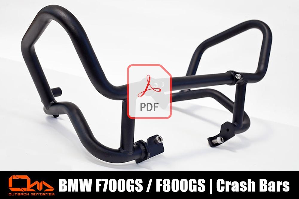 BMW F800GS Lower Crash Bars PDF Installation