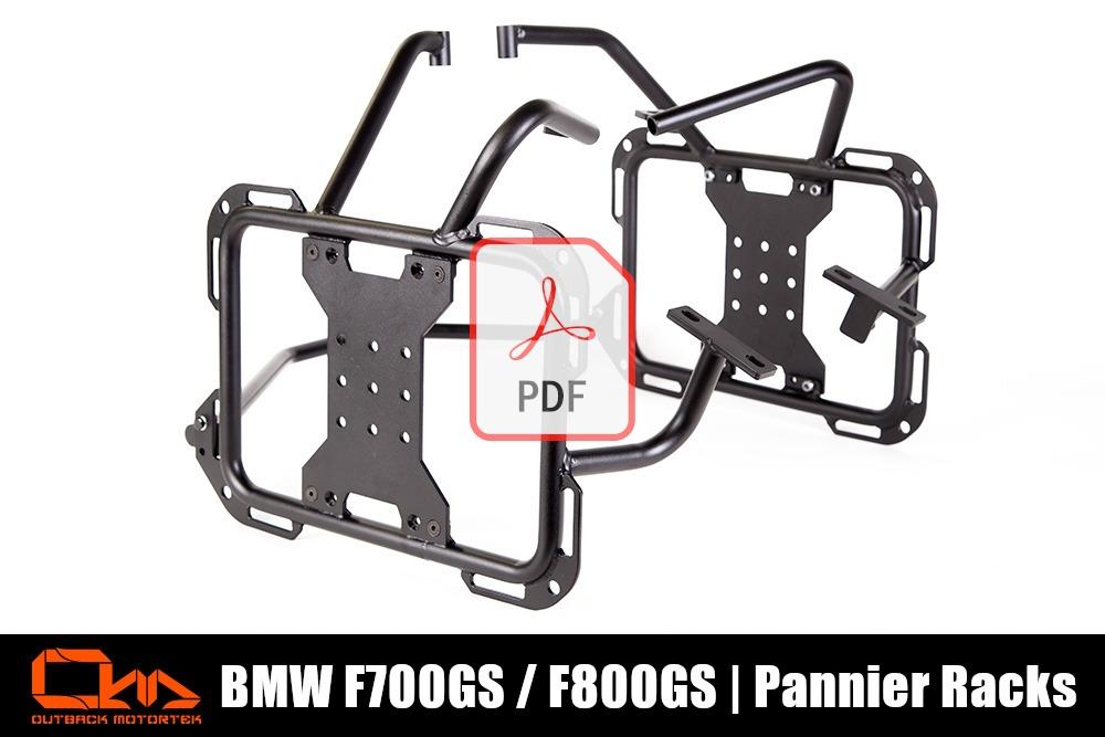 BMW F800GS Pannier Racks PDF Installation