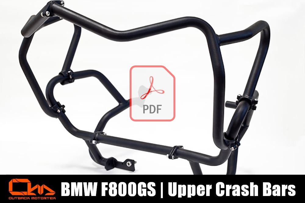 BMW F800GS Upper Crash Bars PDF Installation