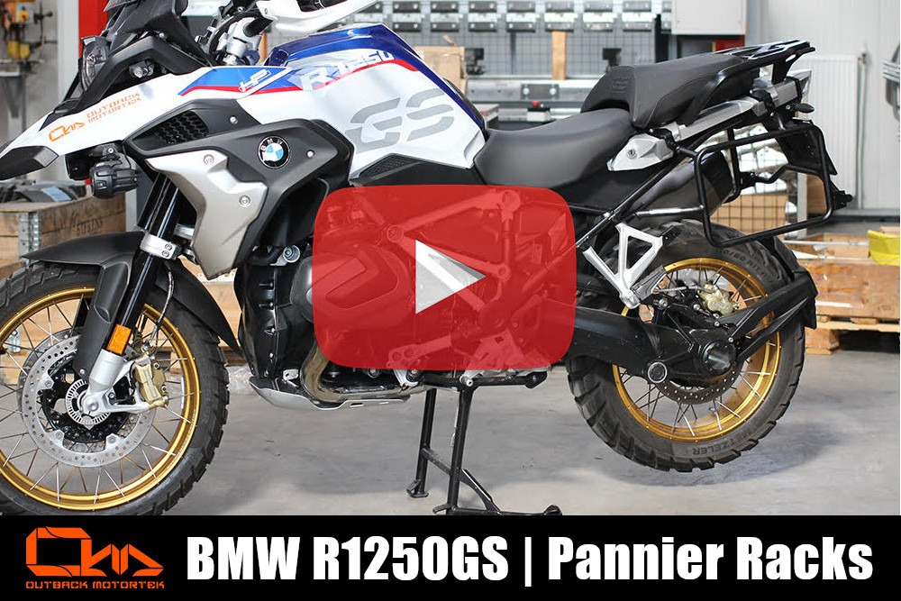 BMW R1250GS Pannier Racks Installation