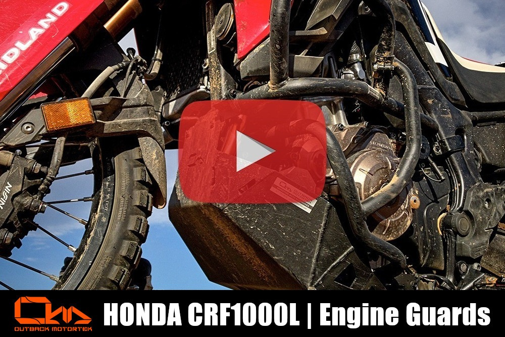 Honda CRF1000L Engine Guards Installation