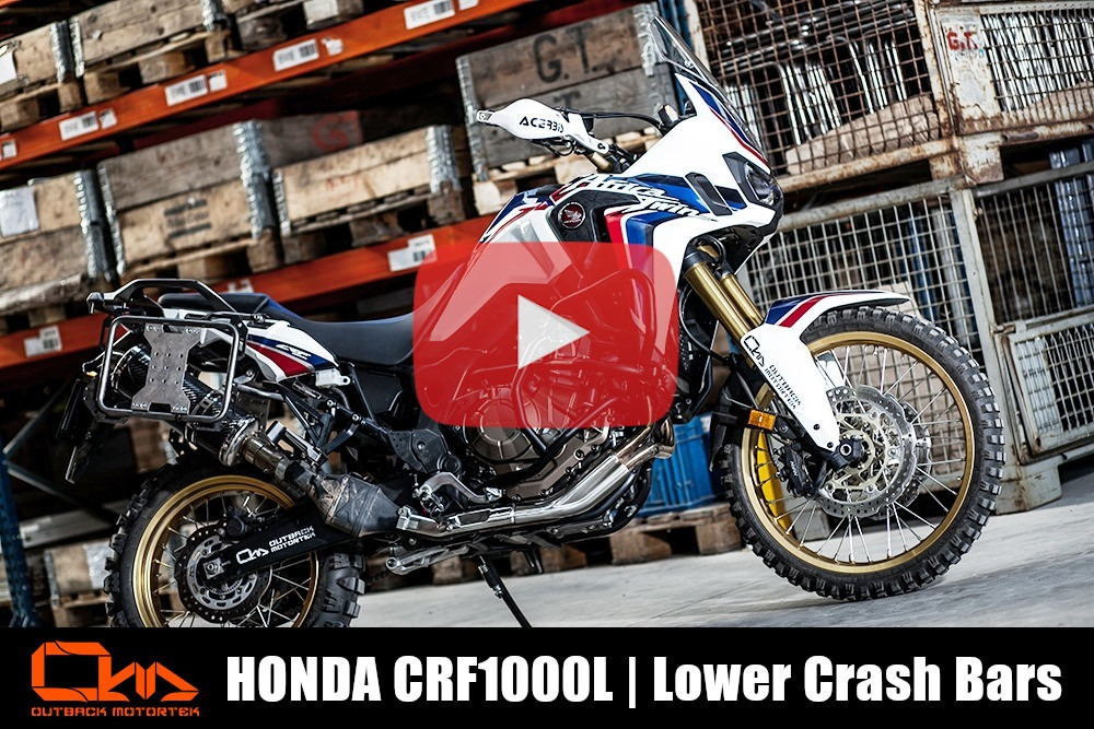 Honda CRF1000L Crash Bars Installation