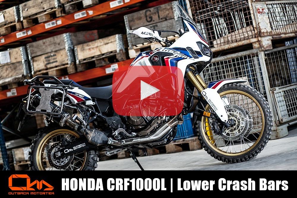 Honda CRF1000L Lower Crash Bars Installation
