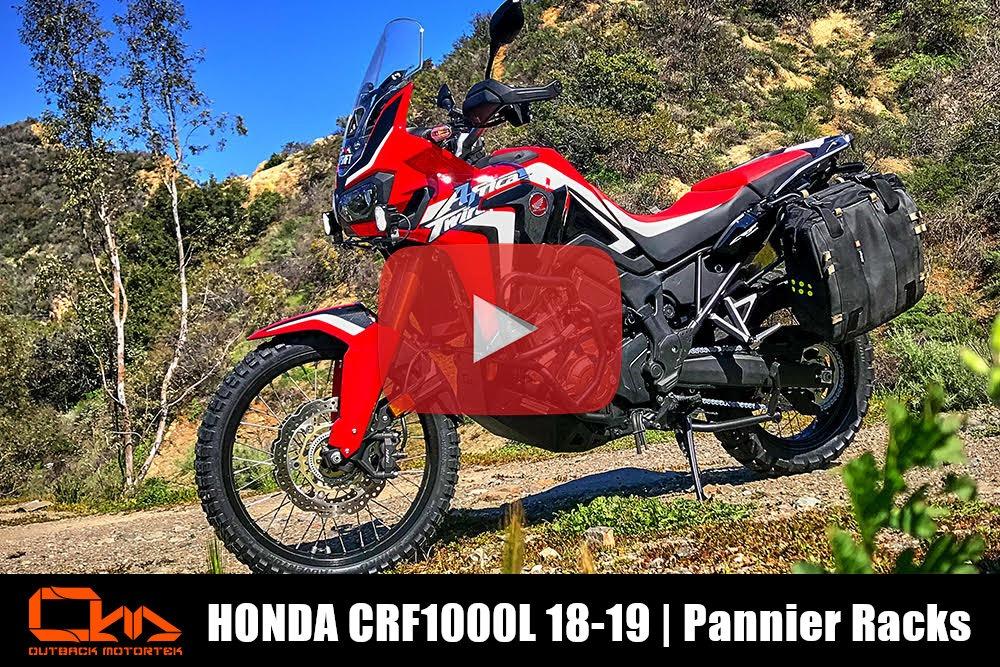 Honda CRF1000L Pannier Racks 2018-2019 Installation