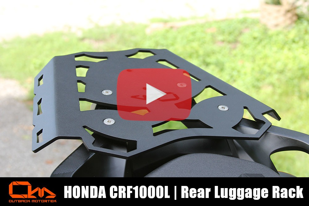 Honda CRF1000L Africa Twin Rear Luggage Rack Installation