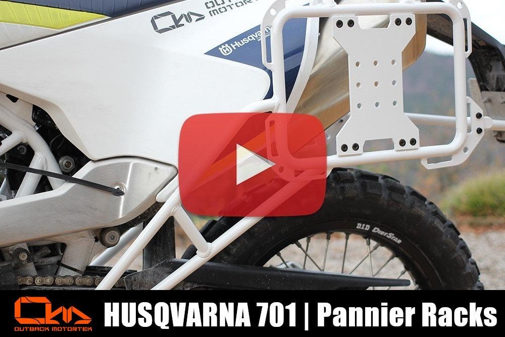 Husqvarna 701 Pannier Racks Installation