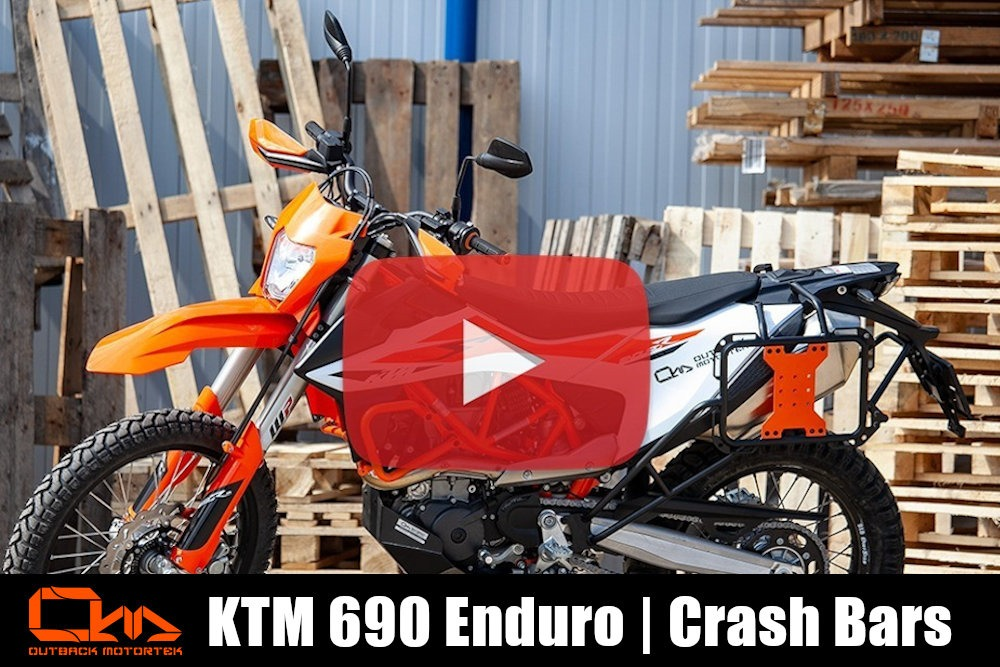 KTM 690 Enduro R Crash Bars Installation