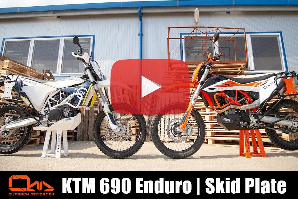 KTM 690 Enduro R Skid Plate Installation
