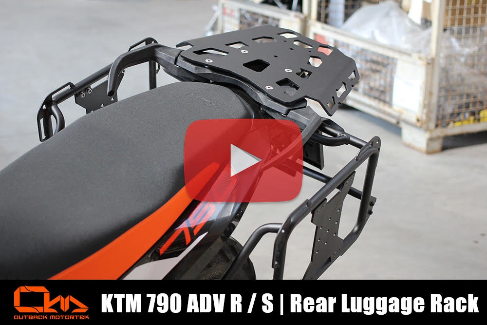 KTM 790 Adventure R / S Rear Luggage Rack Installation
