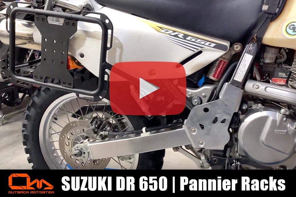 Suzuki DR 650 Pannier Racks Installation