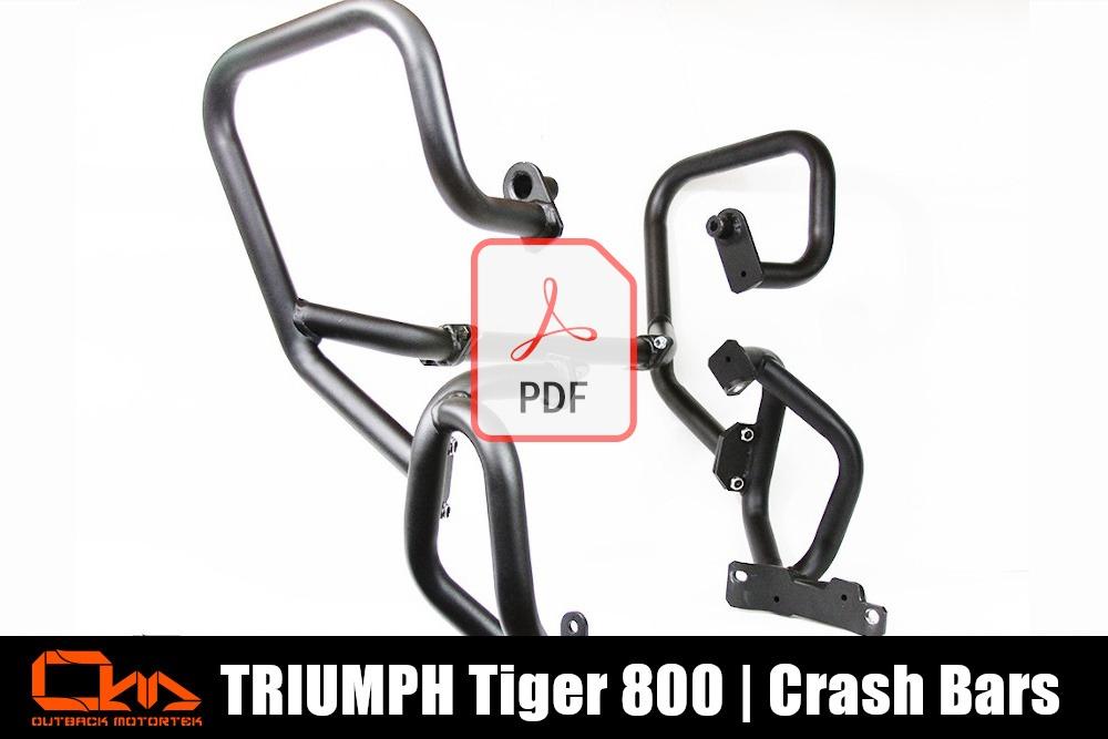 Triumph Tiger 800 Crash Bars Installation