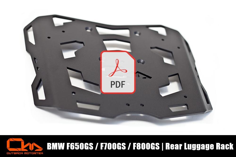 BMW F800GS Rear Luggage Rack PDF Installation