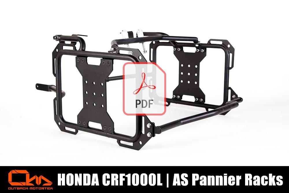 Honda CRF1000L Africa Twin Pannier Racks Adventure Sports PDF Installation