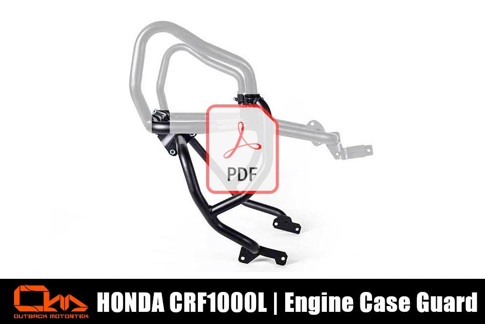 Honda CRF1000L Engine Case Guard PDF Installation