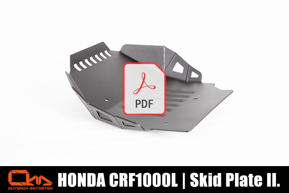 Honda CRF1000L Short Skid Plate PDF Installation