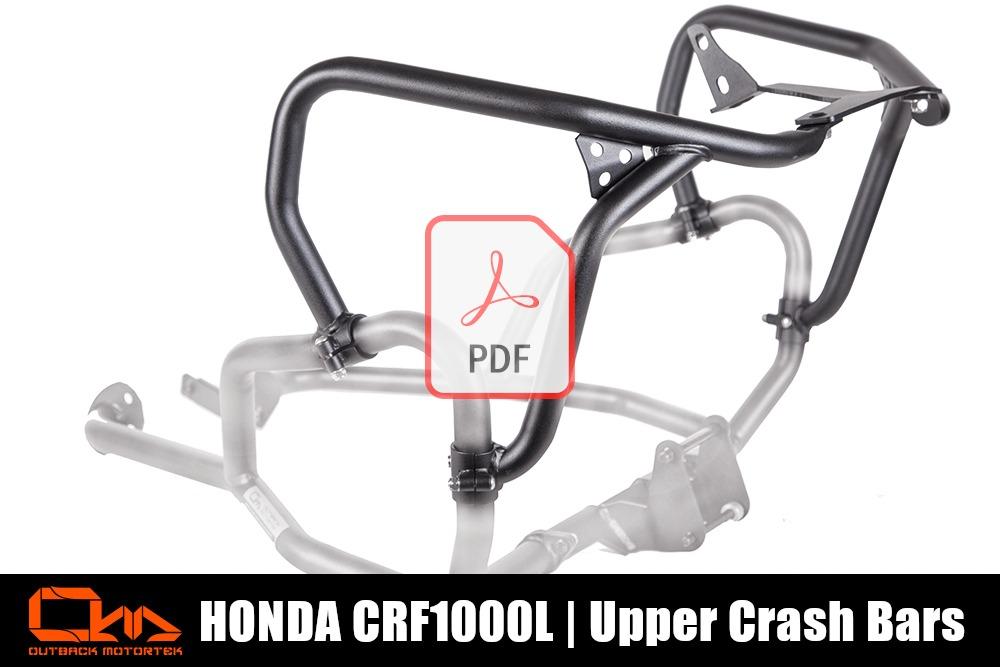 Honda CRF1000L Upper Crash Bars PDF Installation
