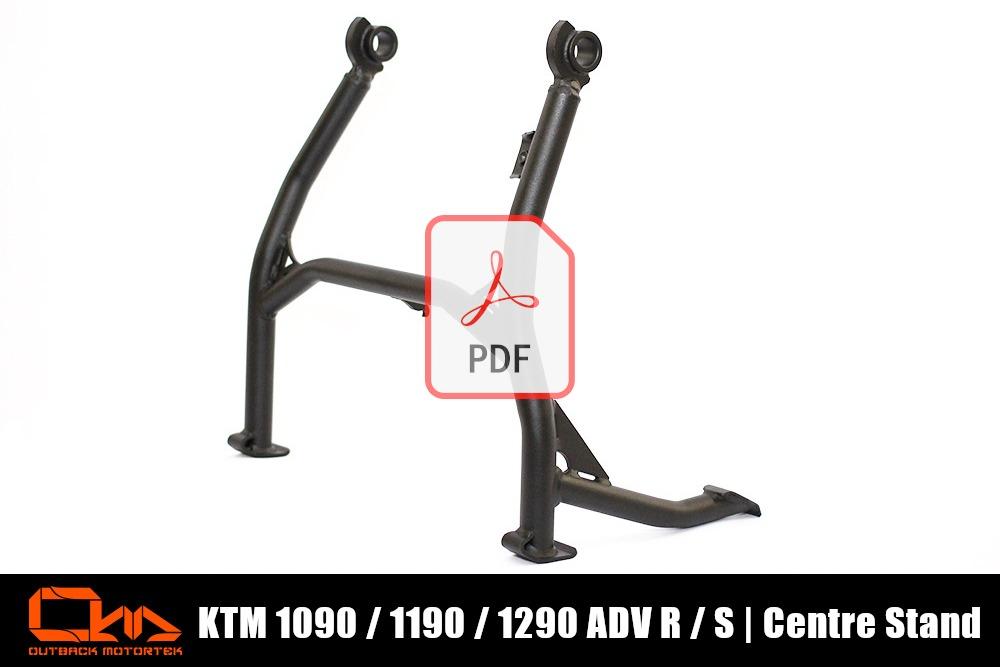 KTM 1090 / 1190 / 1290 Adventure R / S Centre Stand PDF Installation