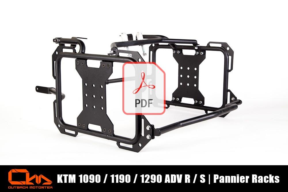 KTM 1090 / 1190 / 1290 Adventure R / S Pannier Racks PDF Installation