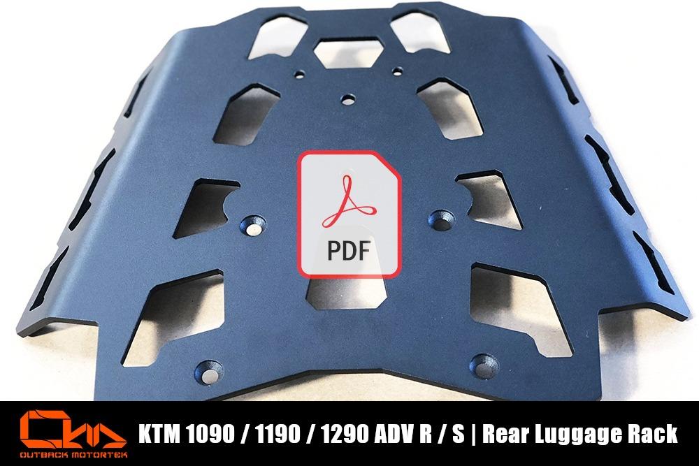 KTM 1090 / 1190 / 1290 Adventure R / S Rear Luggage Racks PDF Installation