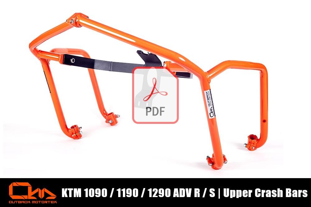 KTM 1090 / 1190 / 1290 Adventure R / S Upper Crash Bars PDF Installation