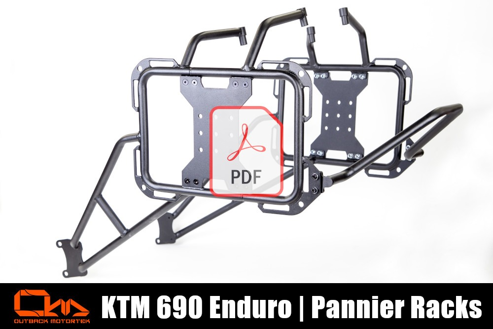 KTM 690 Enduro R Pannier Racks PDF Installation