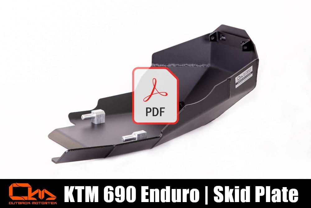KTM 690 Enduro R Skid Plate PDF Installation