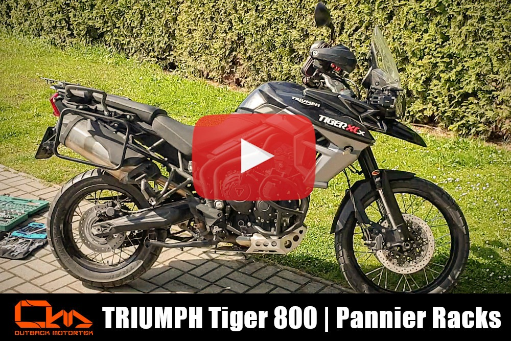Triumph Tiger 800 Pannier Racks Installation