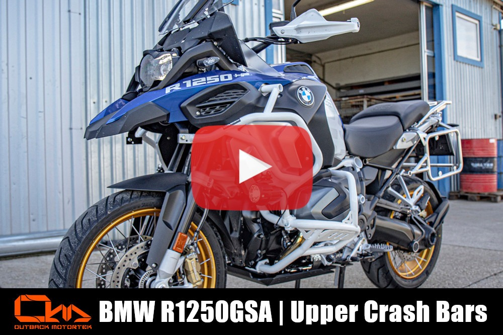 BMW R1250GS Adventure Upper Crash Bars Installation