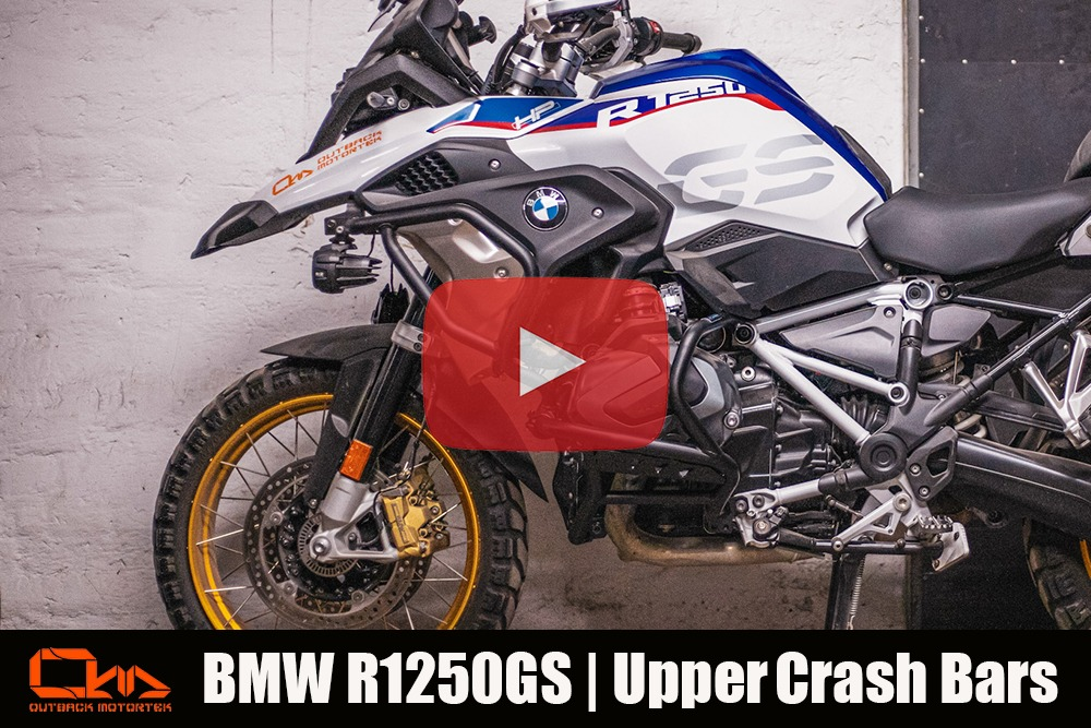BMW R1250GS Upper Crash Bars Installation