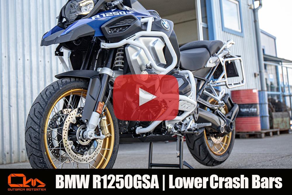 BMW R1250GSA Lower Crash Bars Installation