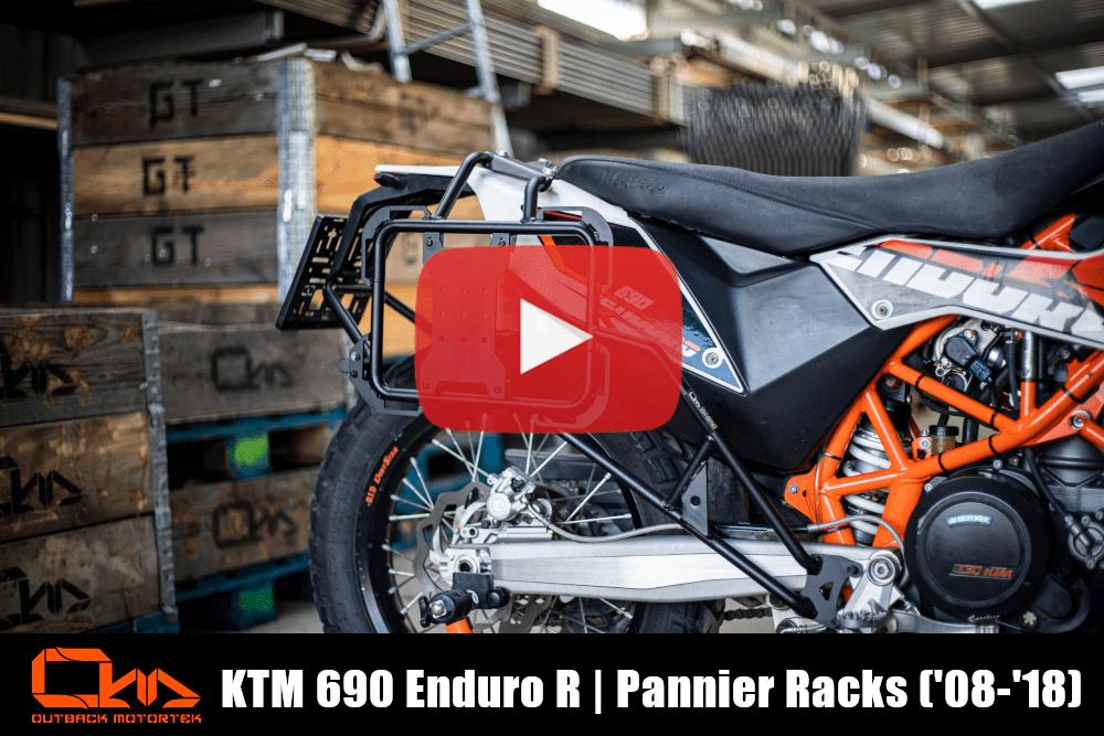 KTM 690 Enduro R Pannier Racks 2008-2018 Installation